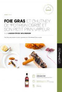 recette foie gras stephane pitre wolfberger liqueur epice